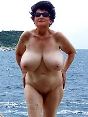 Nudist granny with killer tits