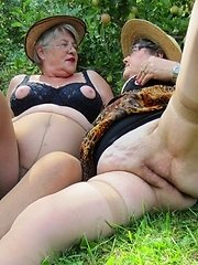 Girdlegoddess and Mistress Sue a couple of mature sexy cougars on the prowl in the great outdoors Check out the sexy nipple bras filled with luscious