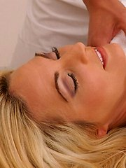 Sindy Lange enjoys a massage that turns into a hardcore fuck session