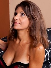 Attractive brunette milf eagerly unzips her hubbies jeans