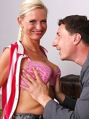 Naughty German housewife getting ready to fuck