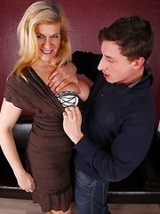 Naughty German housewife playing with her boyfriend