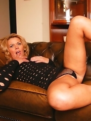 Hot Housewife getting moist on her couch
