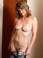 Hairy British housewife getting ready to please