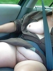 No accidents with these busty BBW cardrivers