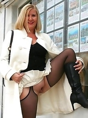 Horny mature whores flashing in towns and cities